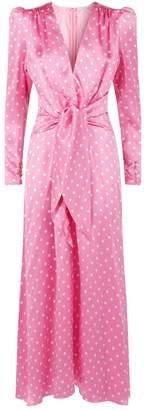 Alessandra Rich Silk Polka-Dot Dress