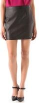 Susana Monaco Leather Miniskirt