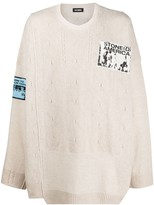 Raf Simons oversized multiple-patch jumper