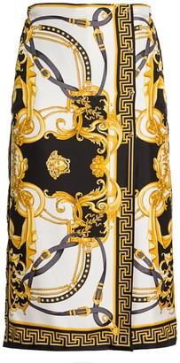 Versace Rodeo Queen Silk Wrap Skort