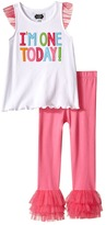 Mud Pie I Am One Tunic and Leggings Set Girl's Active Sets
