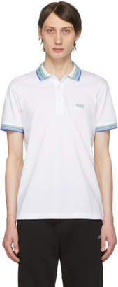 BOSS White Paddy Pique Sport Polo