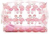 Forever 21 FOREVER 21+ Glitter Flamingo Makeup Bag