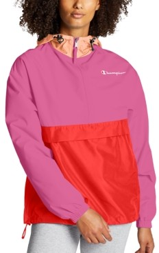 Champion Women's Packable Colorblocked Hooded Jacket