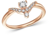Bloomingdale's Diamond Chevron Ring in 14K Rose Gold, 0.30 ct. t.w. - 100% Exclusive