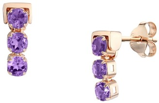Tsai X Tsai San Shi Amethyst Stud Earrings, 18 Ct Rose Gold Vermeil