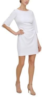 Jessica Howard Petite Beaded-Sleeve Sheath Dress