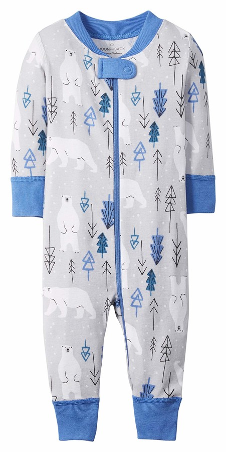 Moon and Back by Hanna Andersson Kids' Toddler Organic Holiday Family Matching 1 Piece Footless Pajamas