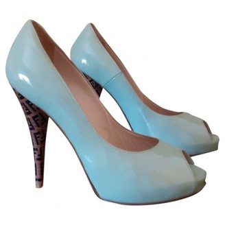 Fendi Green Patent leather Heels