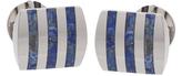 Johnston & Murphy Blue Lapis Vertical Lines Cuff