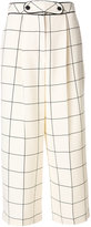 Valentino checked wide leg trousers - women - Spandex/Elastane/Lyocell/Virgin Wool - 42