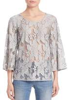 SET Three-Quarter Sleeve Lace Blouse