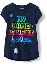 Lands' End Girls Aline Graphic Knit Tee-My Game