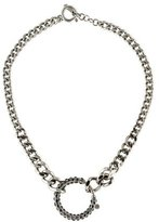 Jean Paul Gaultier Crystal Curb Chain Necklace