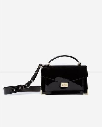 The Kooples Medium black patent Emily Bag