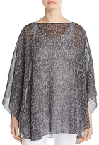 Eileen Fisher Silk Print Poncho - 100% Exclusive