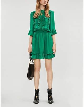HAPPY X NATURE Lark ruffled recycled polyester mini dress