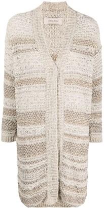 Gentry Portofino Stripe-Knit Cardigan