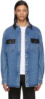 Alexander Wang Blue Oversized Button Down Shirt