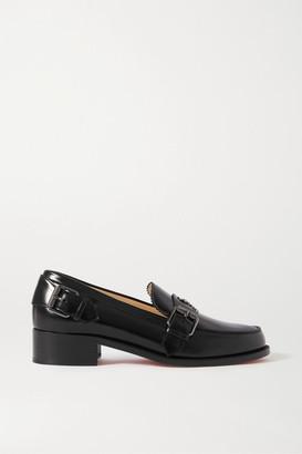 Christian Louboutin Monmoc 40 Logo-embellished Buckled Leather Loafers - Black