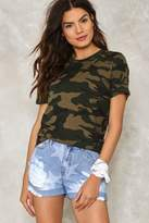 Nasty Gal Battle Cry Camo Tee