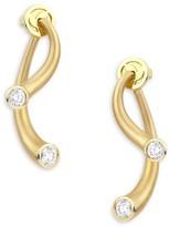 Carelle Whirl Diamond & 18K Yellow Gold Stud Ear Jackets