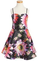 Un Deux Trois Girl's Floral Sleeveless Dress