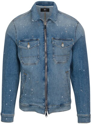 7 For All Mankind Slim Fit Stretch Denim Jacket