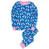 Hatley Girl's Classic Pajama Set - Icy Butterflies