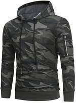 Studyset Men Fashion Camouflage Hoodies Long Sleeve Casual Sweatshirts Slim Pullover