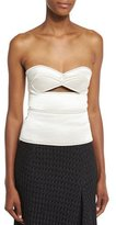 Victoria Beckham Sweetheart-Neck Bustier Top W/Cutout, Off White