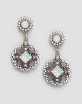 NY:LON Drop Gem Statement Earrings