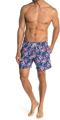 Slate & Stone Tropical Floral Print Swim Trunks