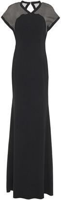Victoria Beckham Silk Organza-paneled Crepe Gown