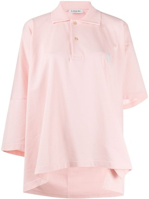 Lanvin Mother and Child asymmetric polo shirt