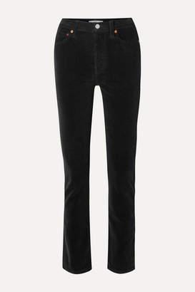RE/DONE Cotton-blend Corduroy Straight-leg Pants - Black