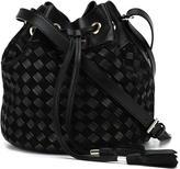 Balmain braided bucket bag - women - Lamb Skin - One Size