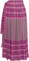 Apiece Apart La Ellisa Printed Voile Skirt - Magenta