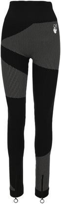 Off-White Striped Panelled Leggings