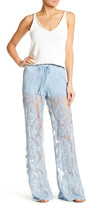 Honey Punch Wide Leg Lace Pant