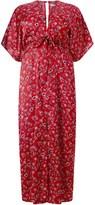 Glamorous Curve Printed Split Front Maxi Dress