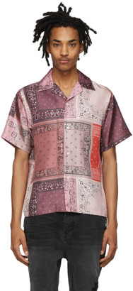 Amiri Pink Silk Bandana Reconstructed Shirt