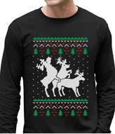 TeeStars Funny Ugly Christmas Sweater Party Humping Reindeer Long Sleeve T-Shirt