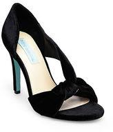 Betsey Johnson Abi Velvet Stiletto Heel Sandals