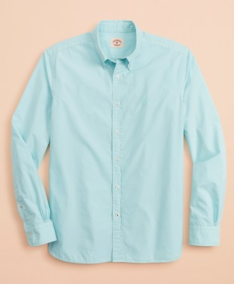 Brooks Brothers Garment-Dyed Cotton Broadcloth Sport Shirt
