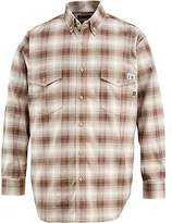 Wolverine Men's Flame Resistant Plaid Twill Shirt
