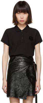 Moncler Black Logo Polo