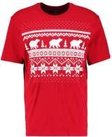 Gap Gap Holiday Theme Print Tshirt Red