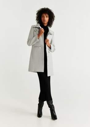MANGO Straight-cut wool coat