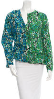 M Missoni Printed Silk Top w/ Tags